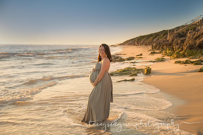 Sunset maternity photograph perth