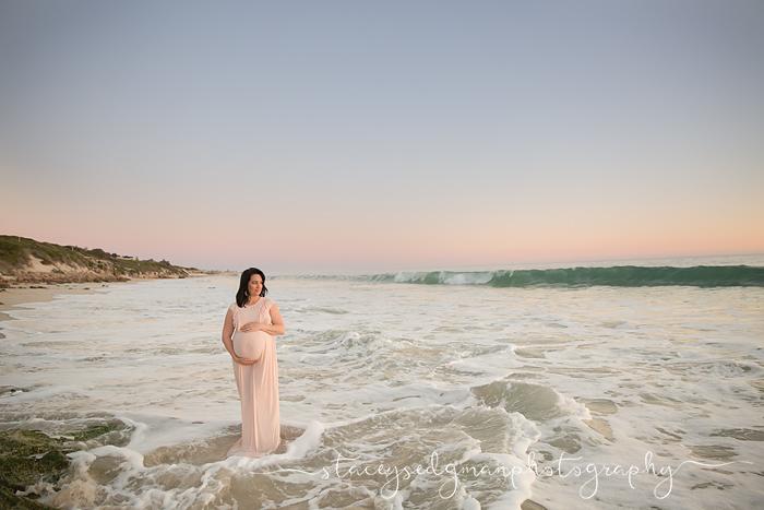 Sunset maternity photograph perth