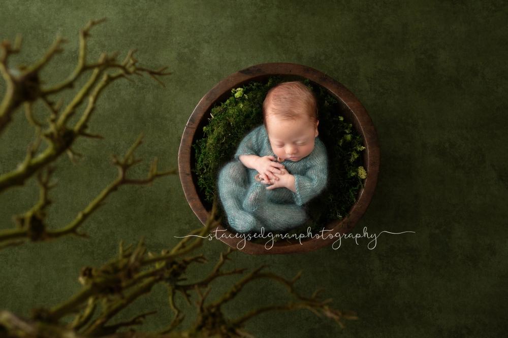 Baby posed on Luisa Dunn Digital Backdrop